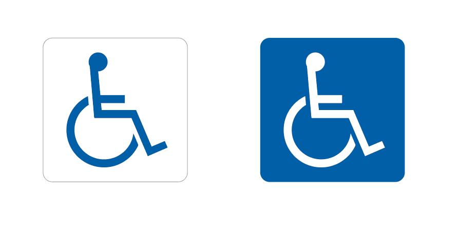 知ってほしい車椅子マークの正しい意味 室名札に関する豆知識
